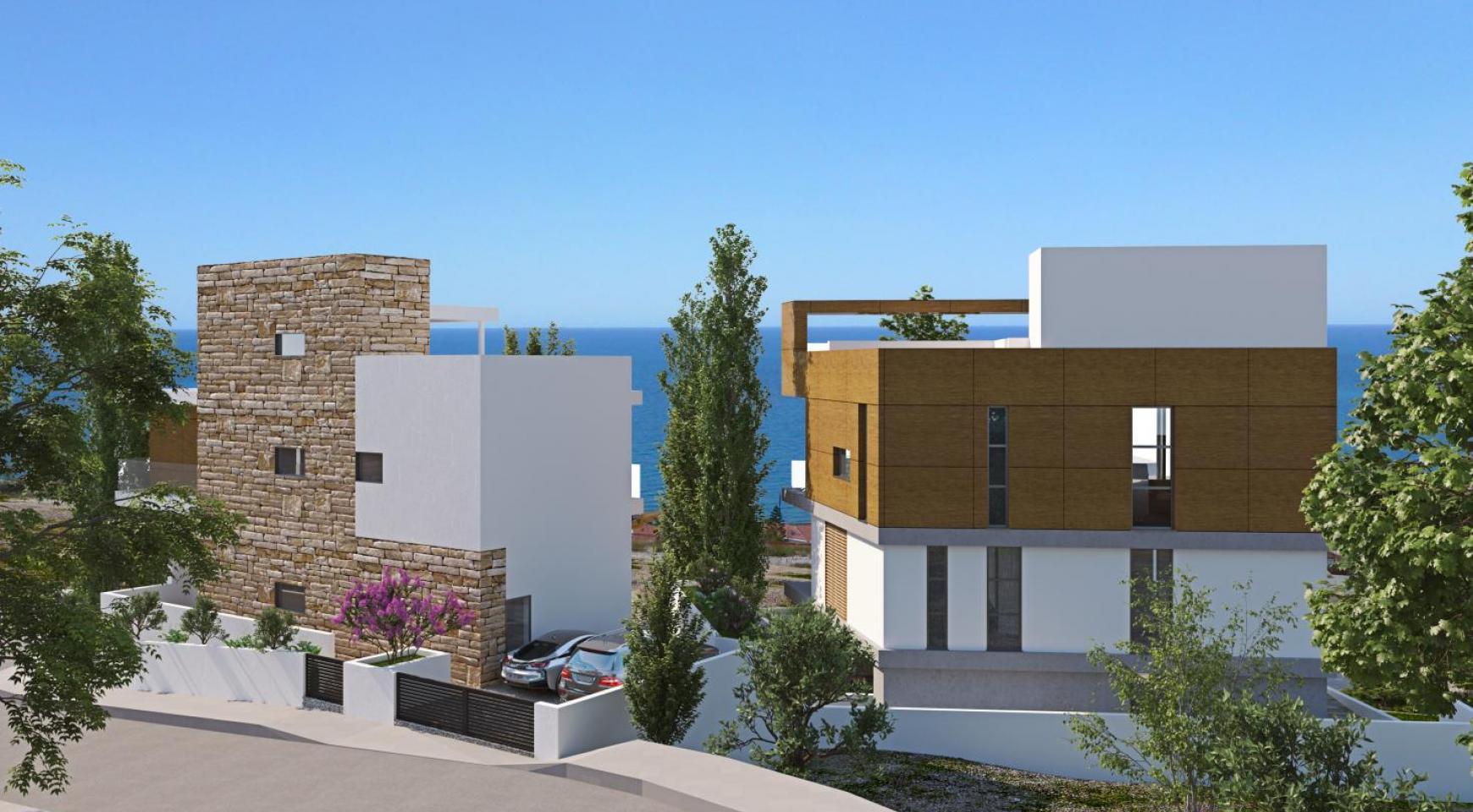 Новая Элитная 4-Спальная Вилла с Видом на Море в Районе Amathus - 3