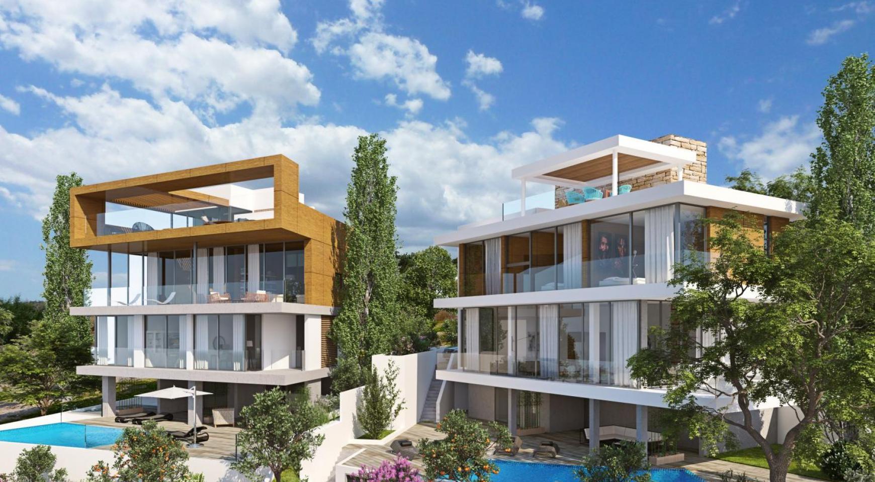Новая Элитная 4-Спальная Вилла с Видом на Море в Районе Amathus - 4