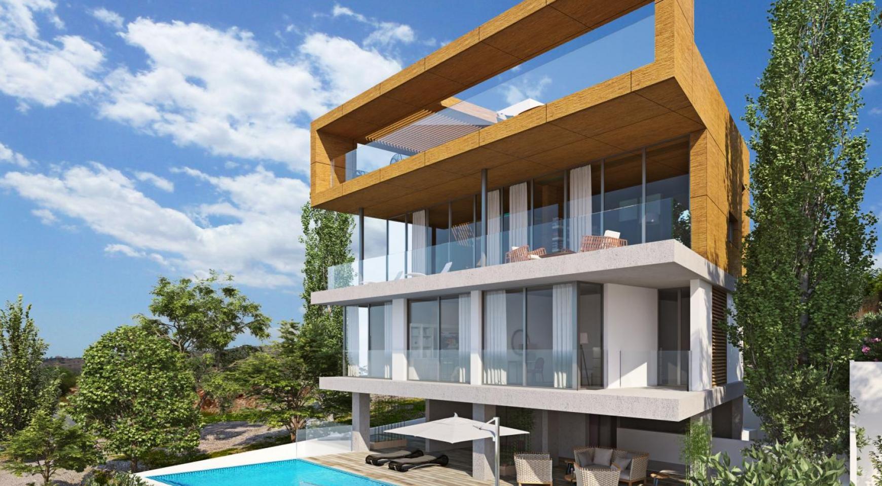 Новая Элитная 4-Спальная Вилла с Видом на Море в Районе Amathus - 2