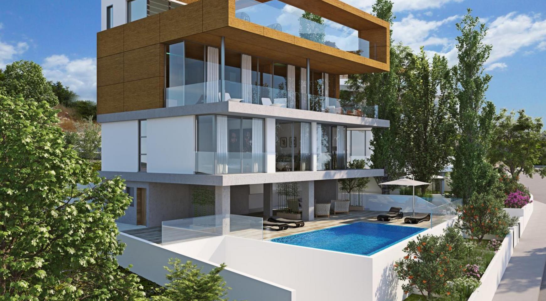 Новая Элитная 4-Спальная Вилла с Видом на Море в Районе Amathus - 1