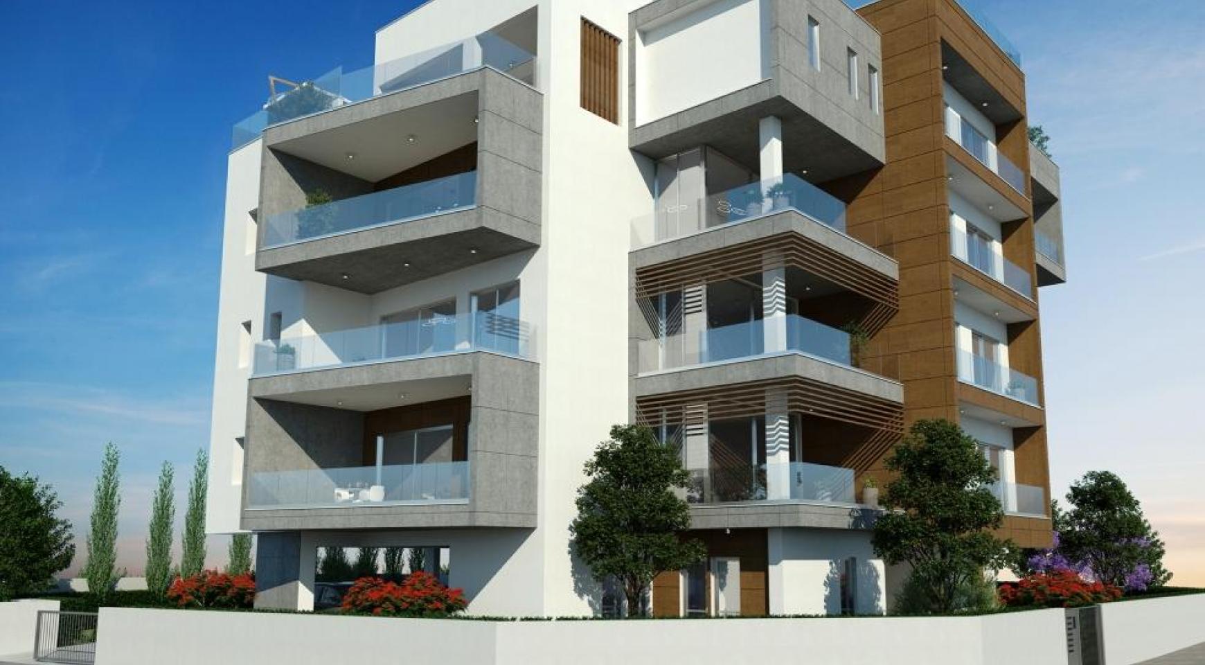 Новая Современная 2-Спальная Квартира в Районе Mesa Geitonia  - 9