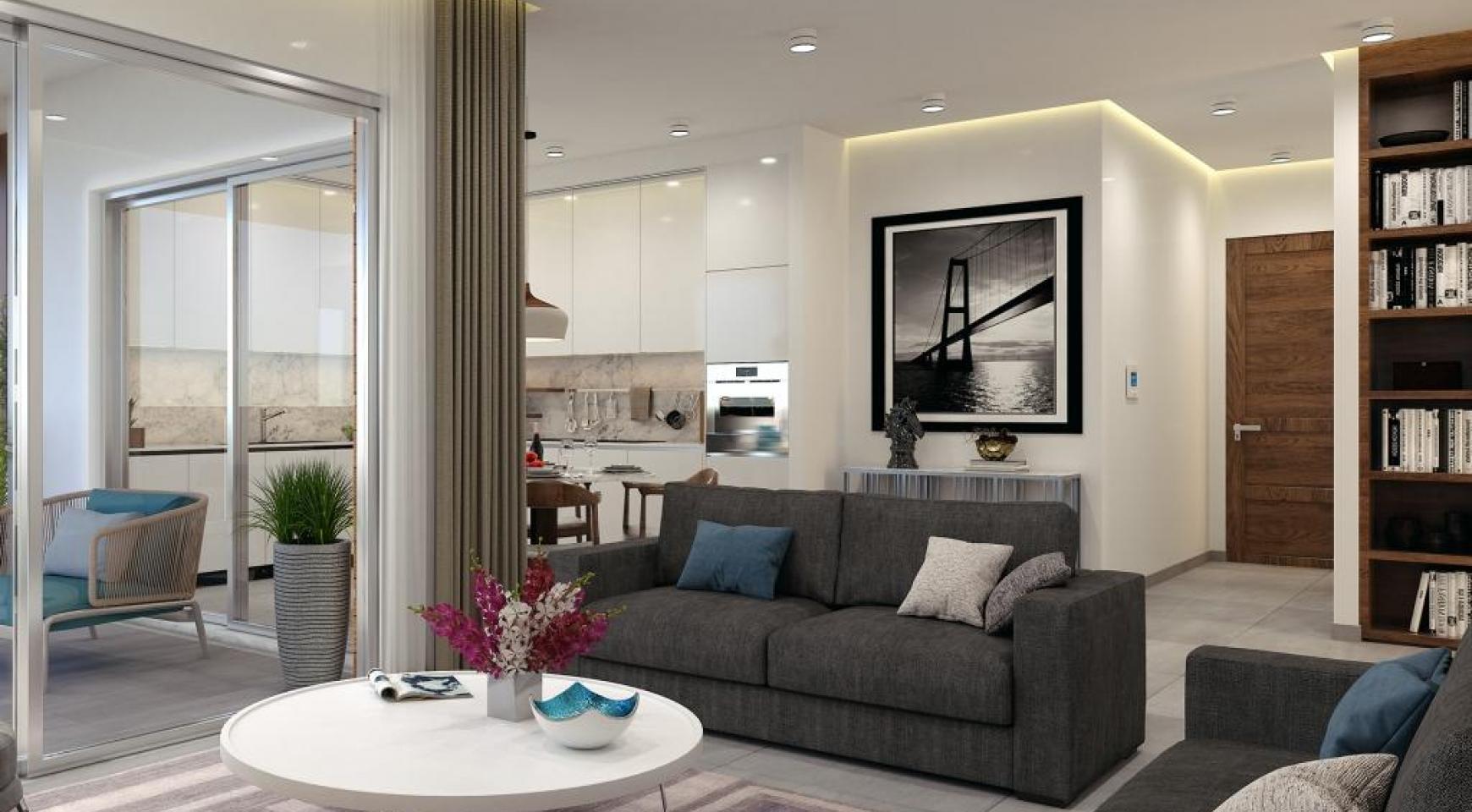 Новая Современная 3-Спальная Квартира в Районе Mesa Geitonia  - 14
