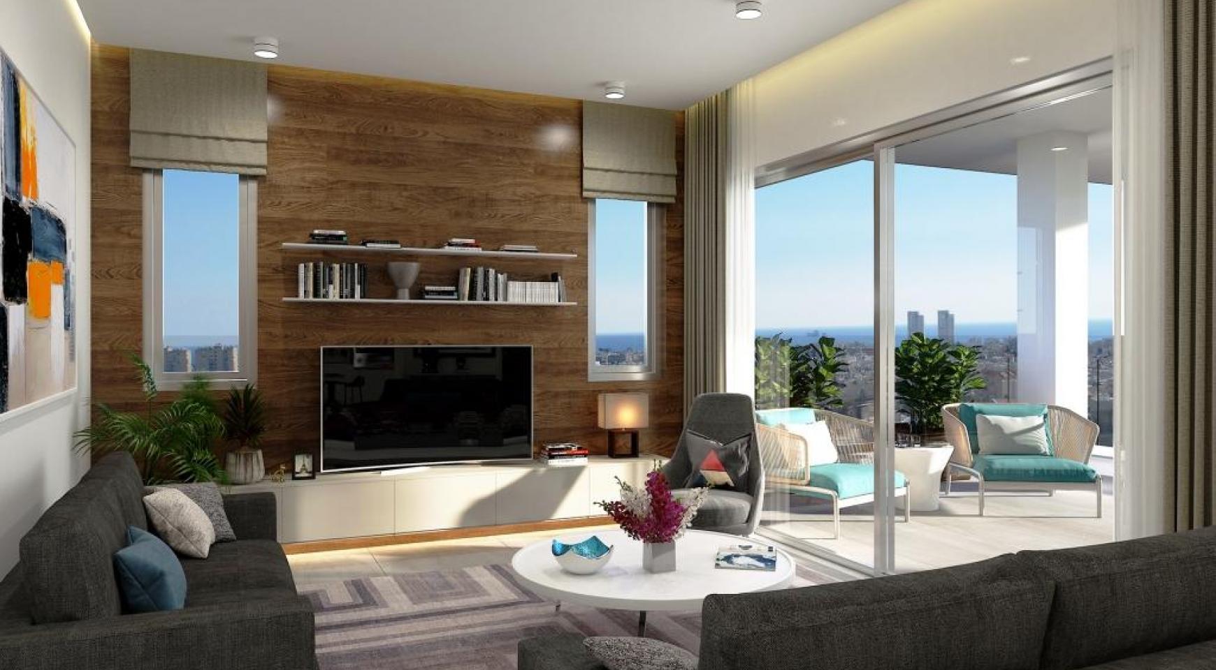 Новая Современная 2-Спальная Квартира в Районе Mesa Geitonia  - 12