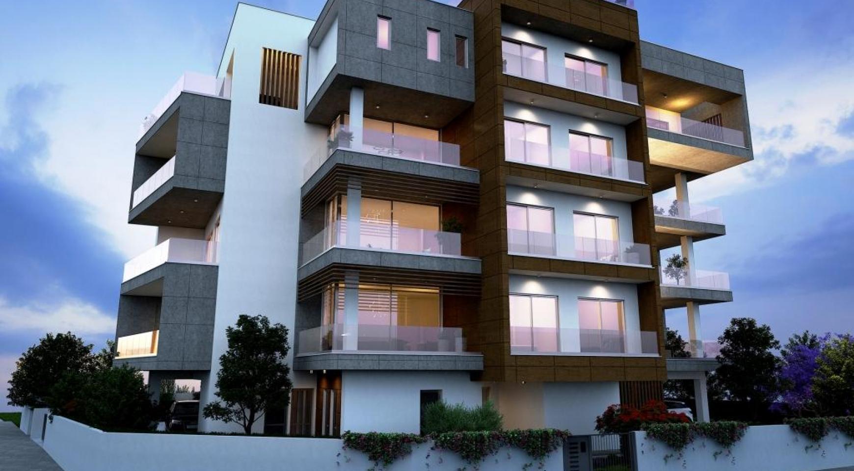 Новая Современная 2-Спальная Квартира в Районе Mesa Geitonia  - 1