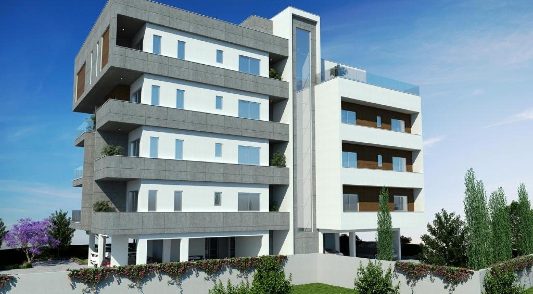 Новая Современная 2-Спальная Квартира в Районе Mesa Geitonia  - 6