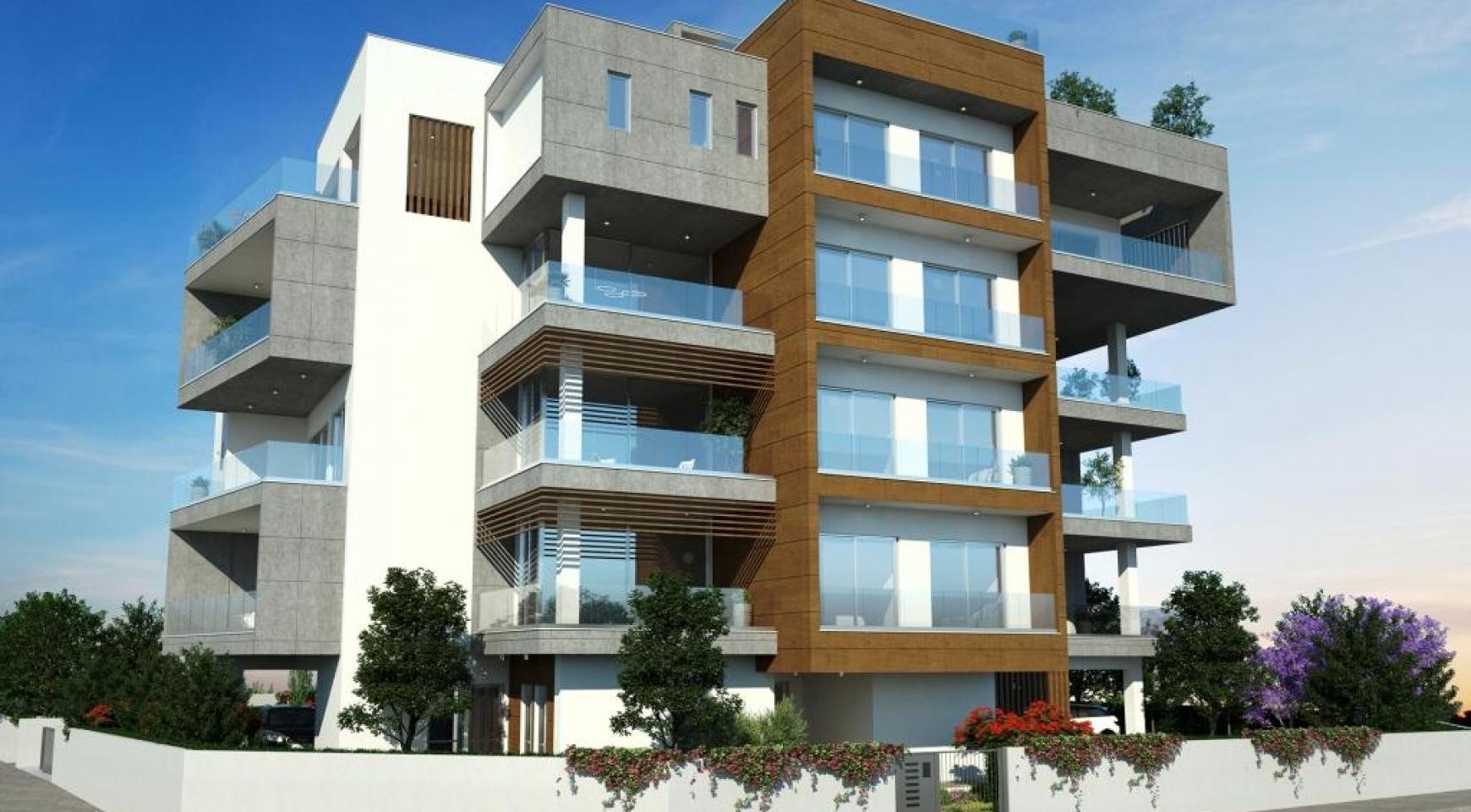 Новая Современная 2-Спальная Квартира в Районе Mesa Geitonia  - 3