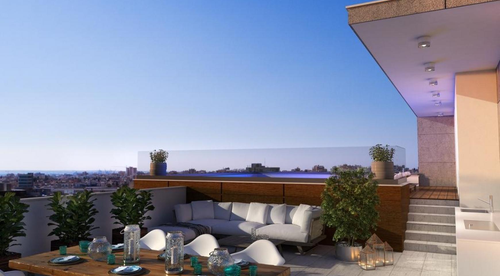 Новая Современная 2-Спальная Квартира в Районе Mesa Geitonia  - 11