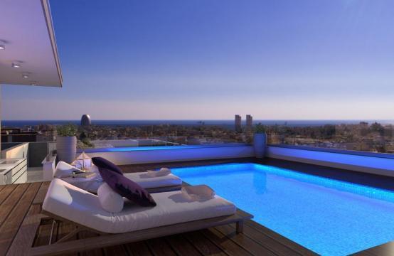 Новый 3-Спальный Пентхаус с Бассейном на Крыше в Районе Mesa Geitonia