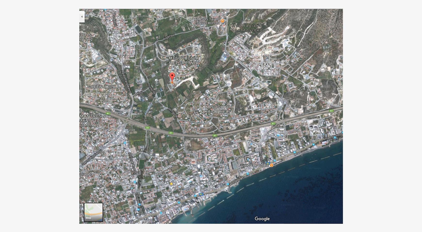 Большой Строительный Участок с Прямым Видом на Море в Районе Mesovounia - 1