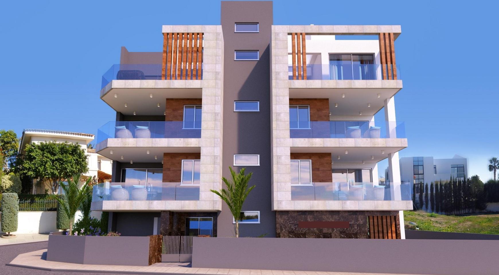 Новая 3-Спальная Квартира в Современном Здании в Районе Potamos Germasogeia - 2