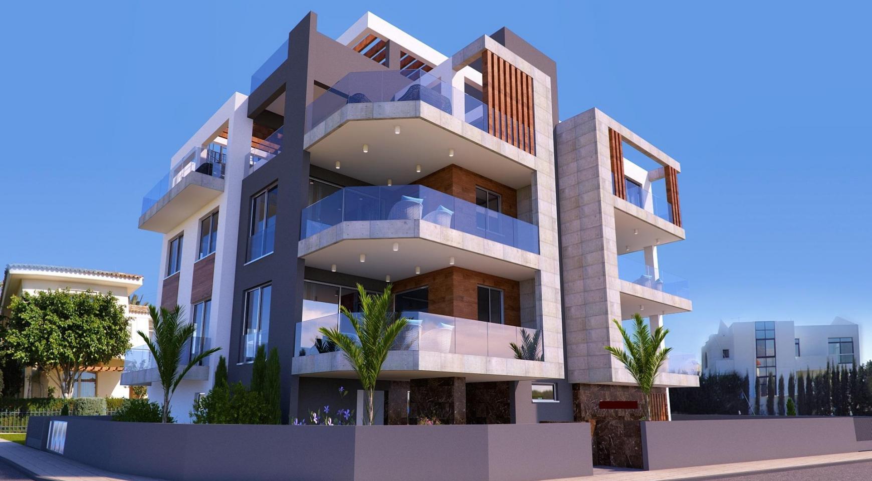 Новая 3-Спальная Квартира в Современном Здании в Районе Potamos Germasogeia - 1