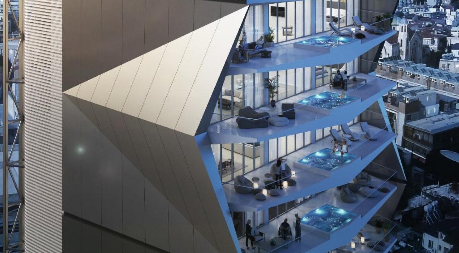 Эксклюзивная 3-Спальная Квартира c Бассейном в Уникальном Комплексе у Моря - 4