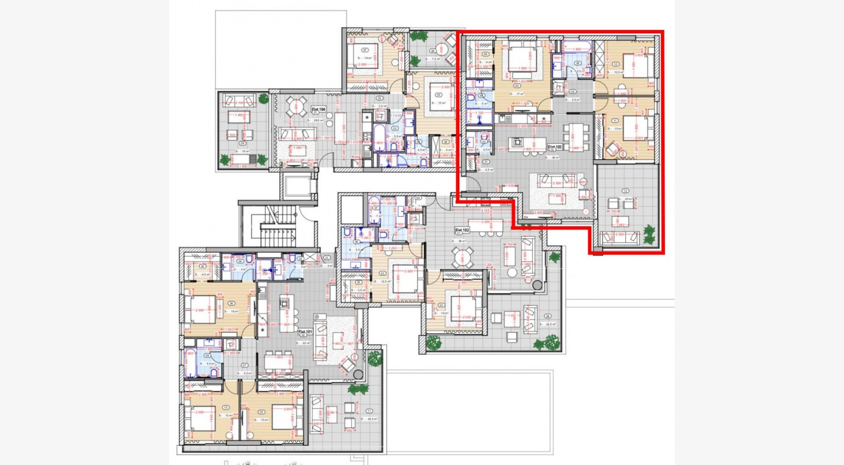 Современный 3-Спальный Пентхаус в Новом Комплексе возле Моря - 9
