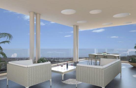 Современный 3-Спальный Пентхаус в Новом Здании в Центре Города