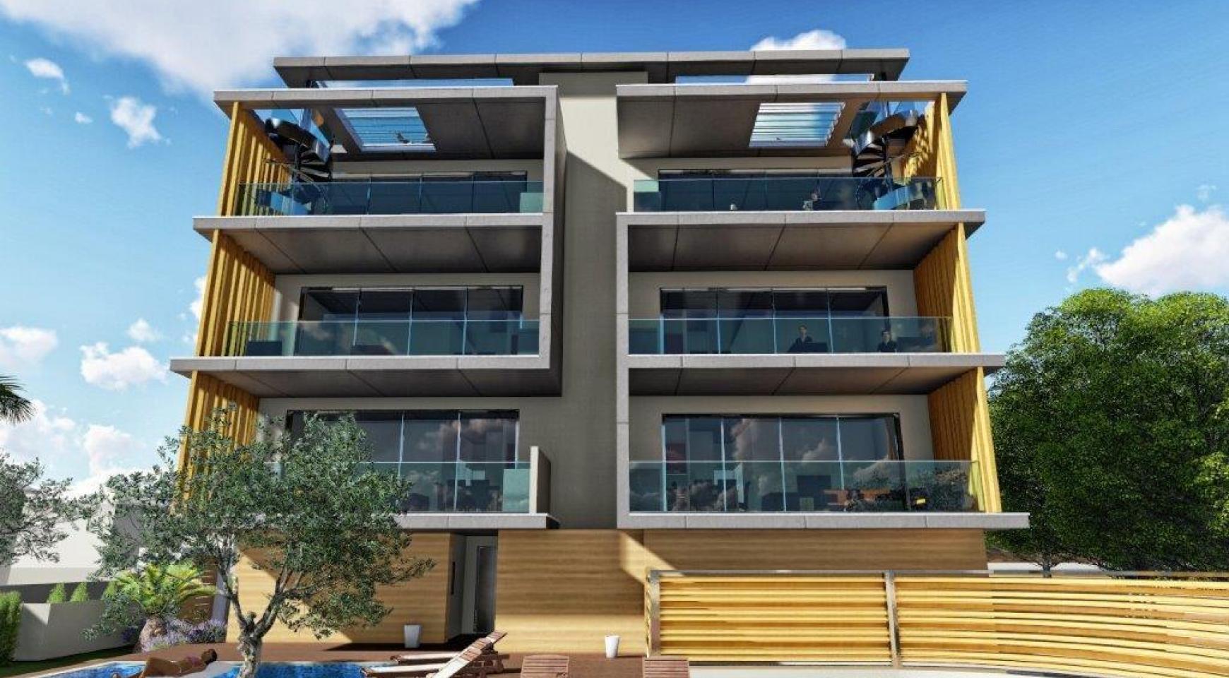 Новая 3-Спальная Квартира в Районе Agios Tychonas - 9