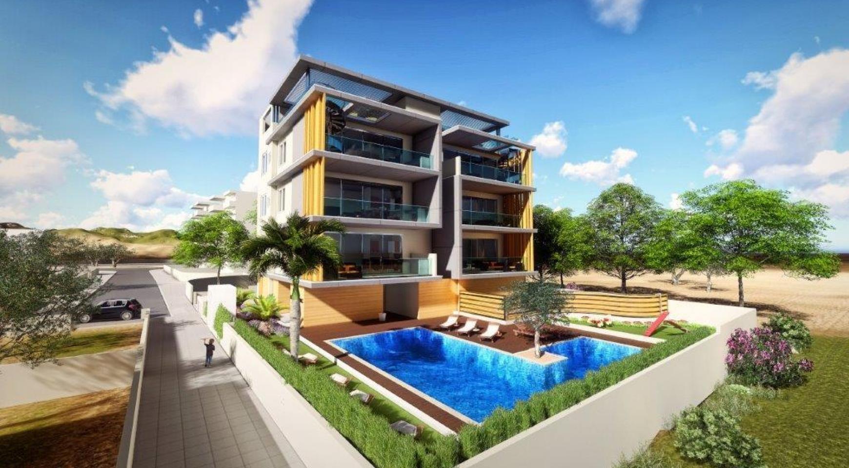 Новая 3-Спальная Квартира в Районе Agios Tychonas - 3