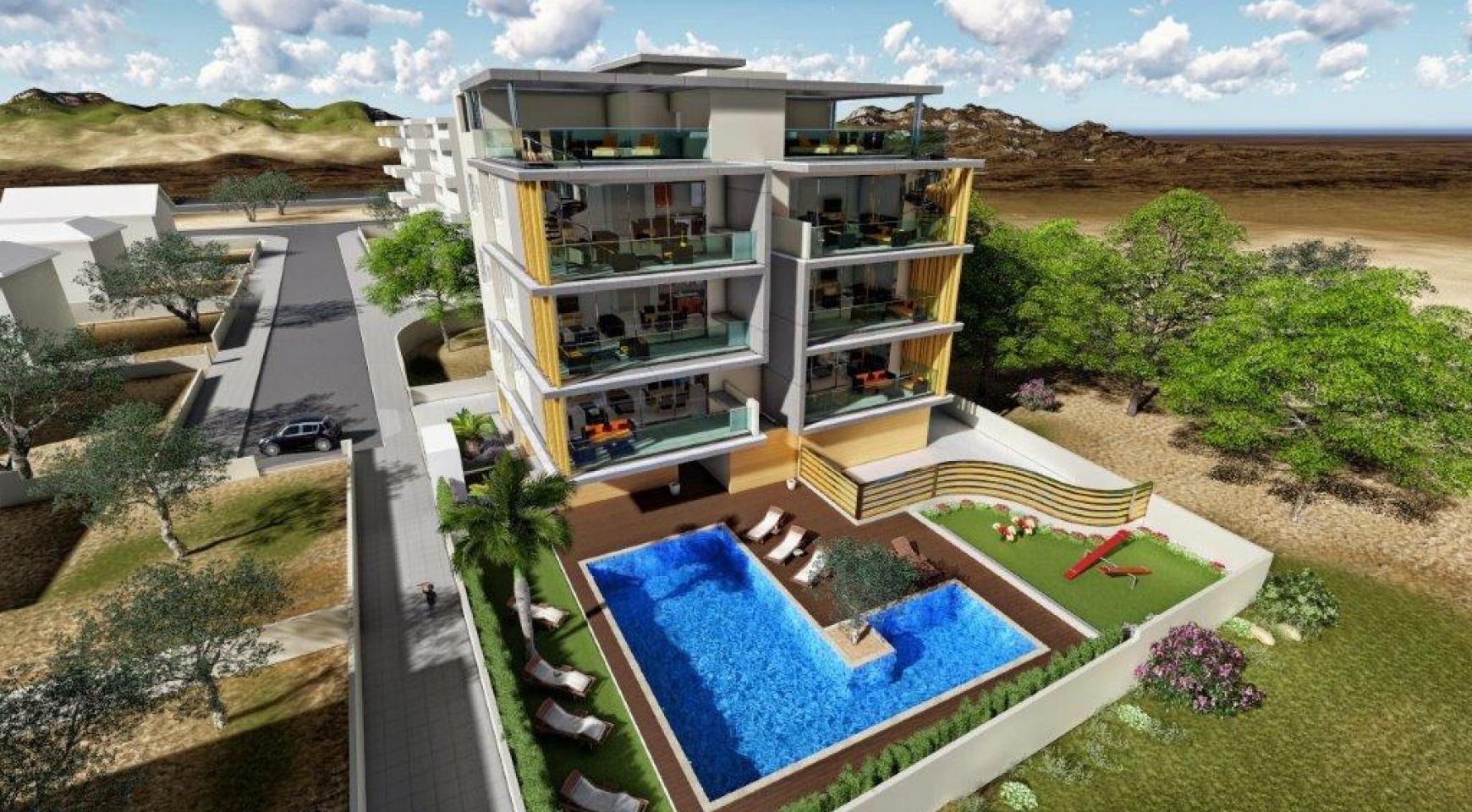 Новая 3-Спальная Квартира в Районе Agios Tychonas - 2
