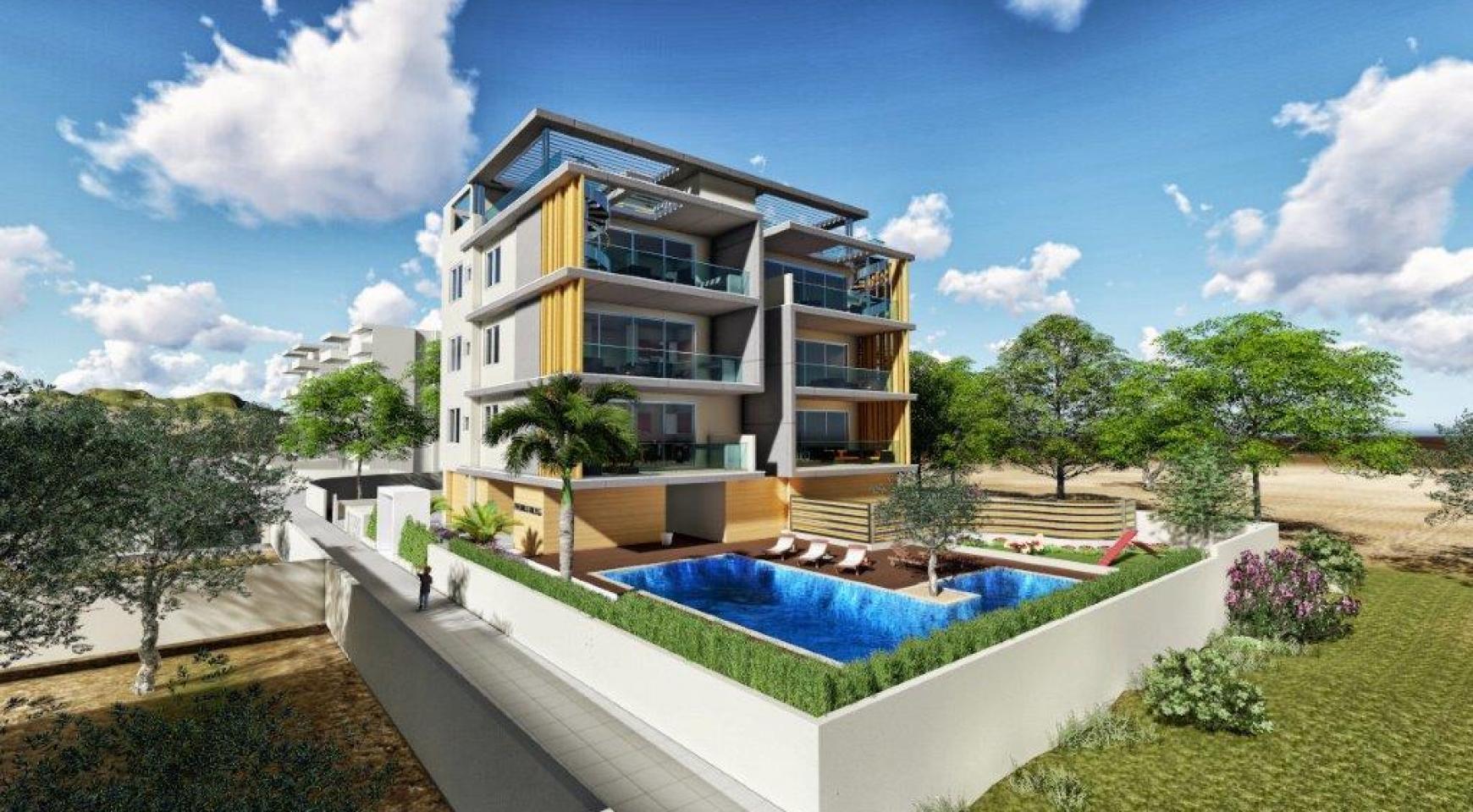 Новая 3-Спальная Квартира в Районе Agios Tychonas - 5