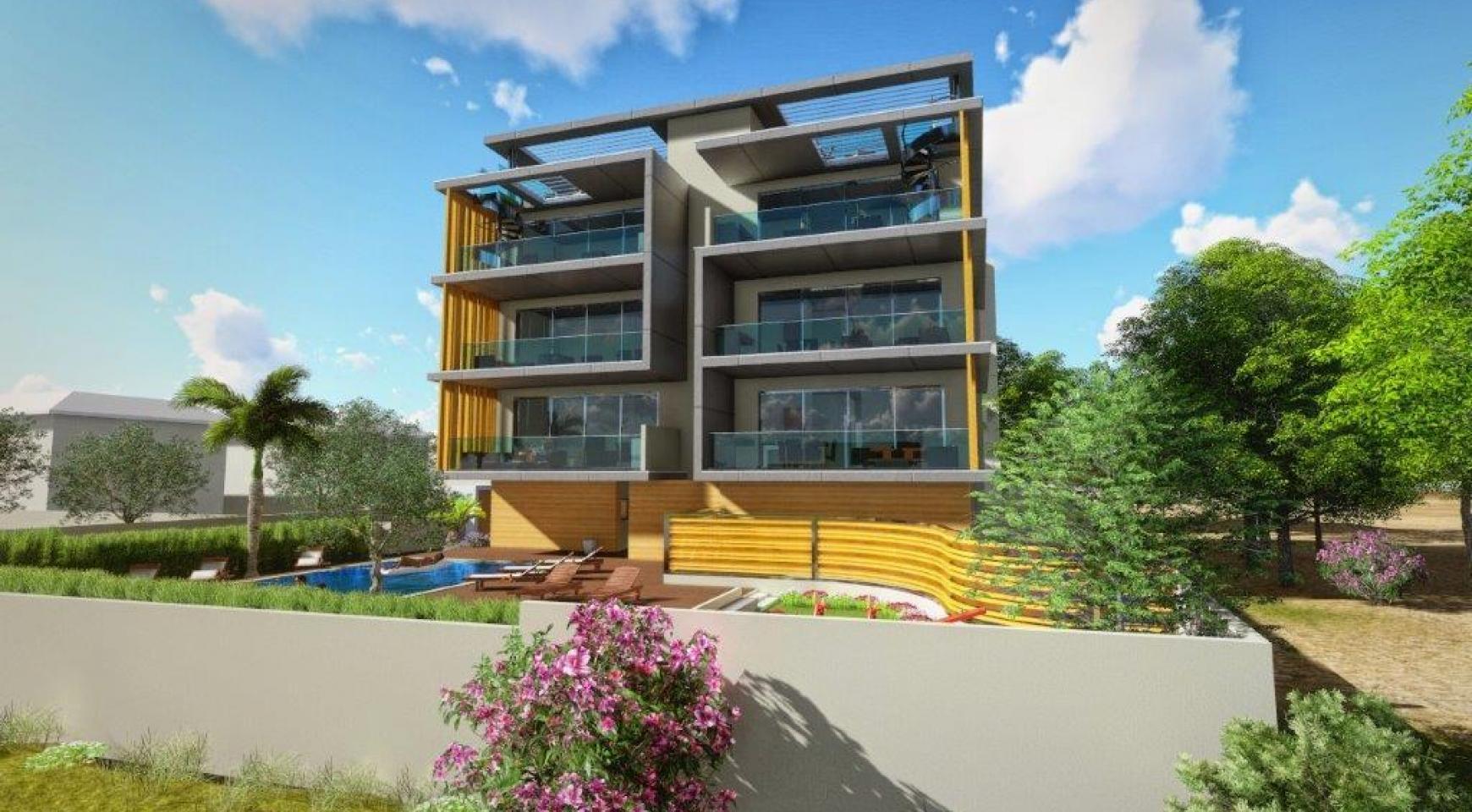 Новая 3-Спальная Квартира в Районе Agios Tychonas - 7