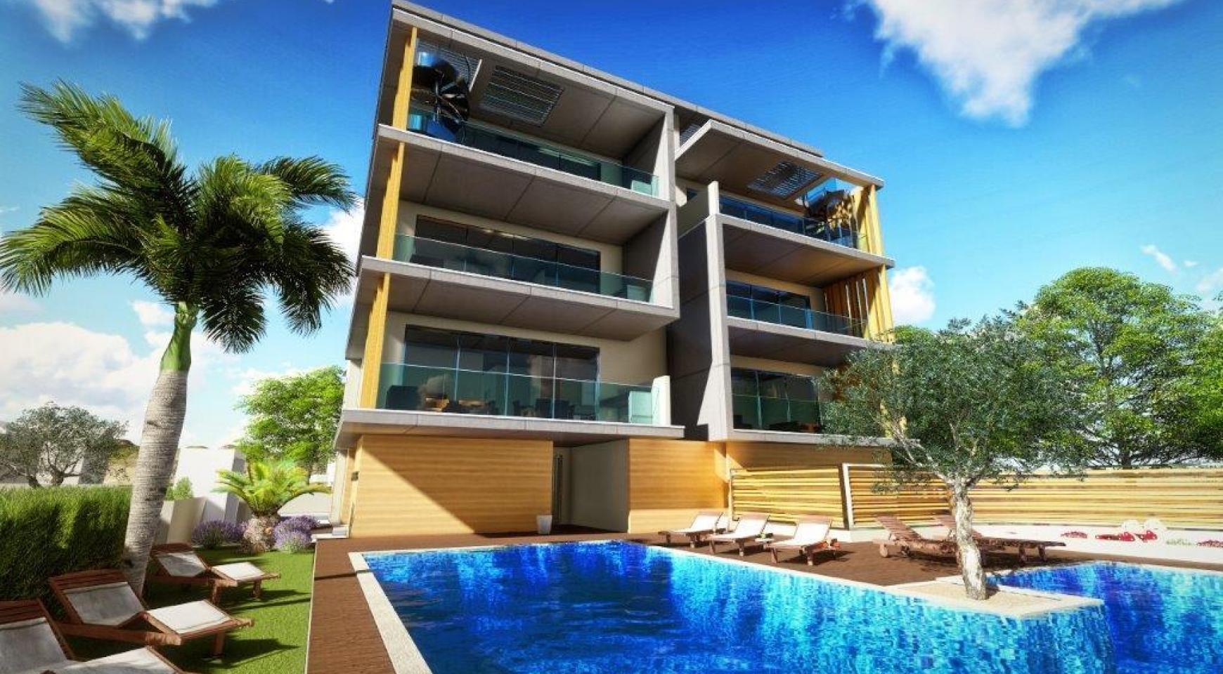 Новая 3-Спальная Квартира в Районе Agios Tychonas - 1