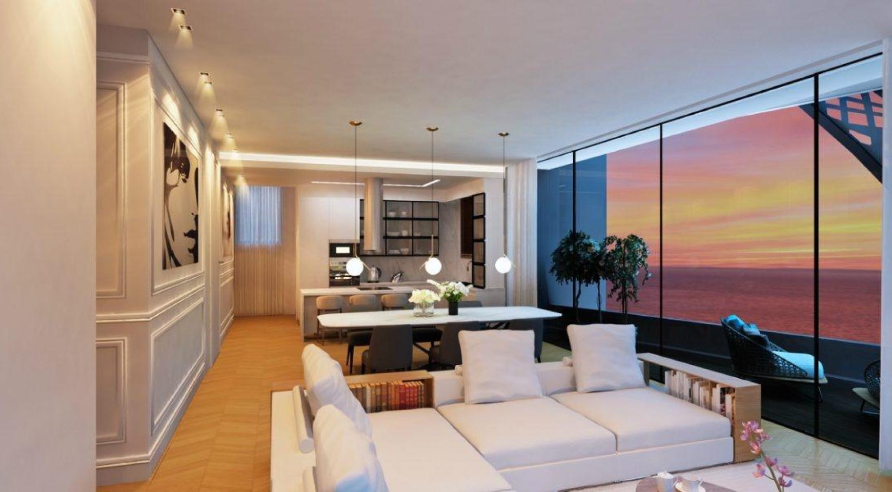 Современная 3-Спальная Квартира в Новом Уникальном Проекте у Моря - 13