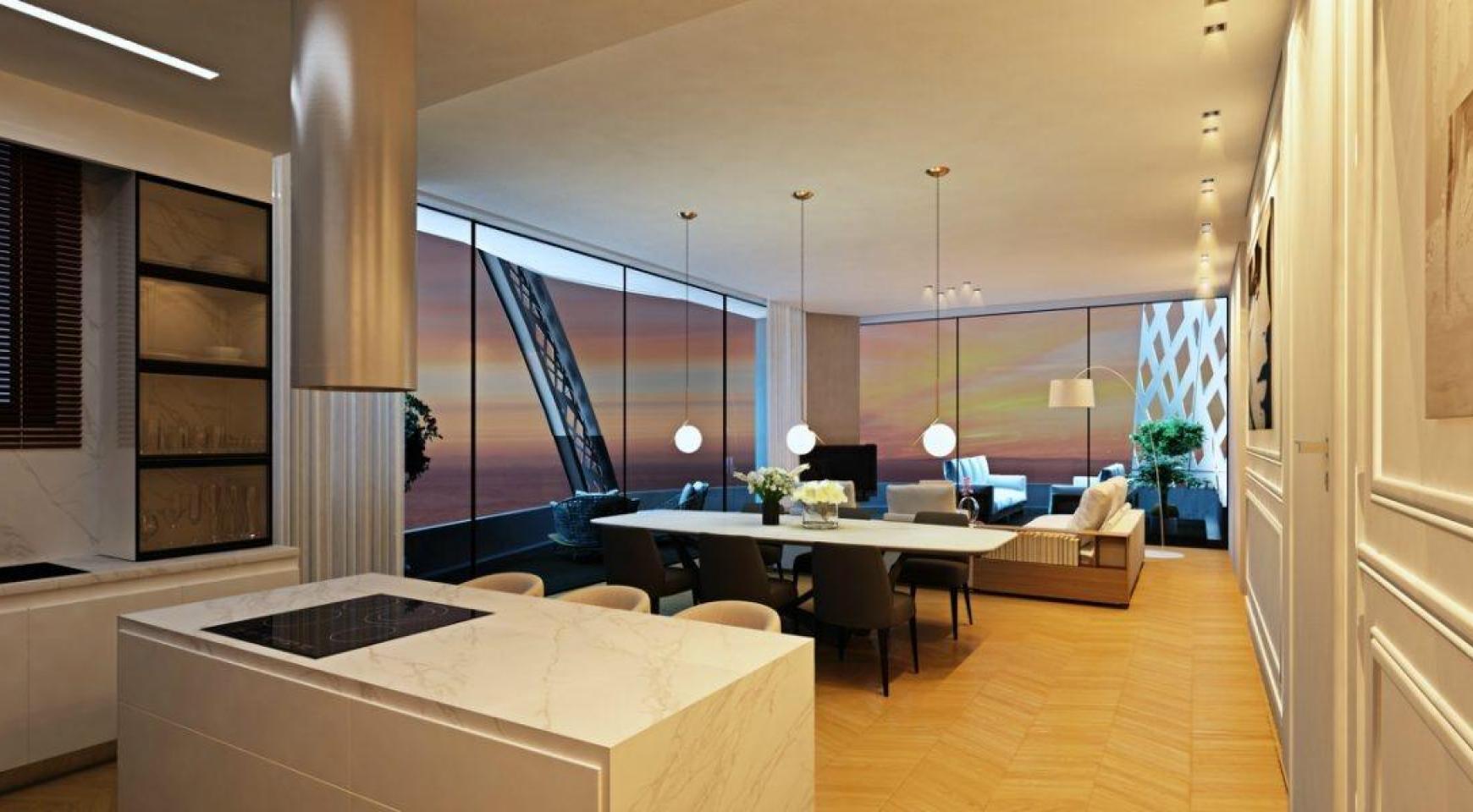 Современная 3-Спальная Квартира в Новом Уникальном Проекте у Моря - 15