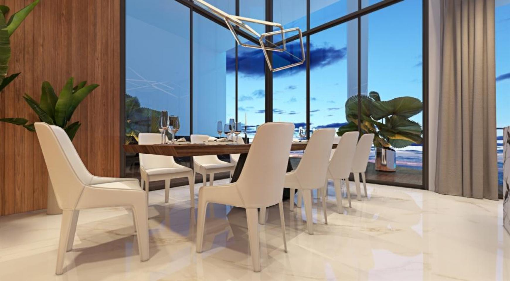 Sky Tower. Современная Просторная Односпальная Квартира 302 возле Моря - 24