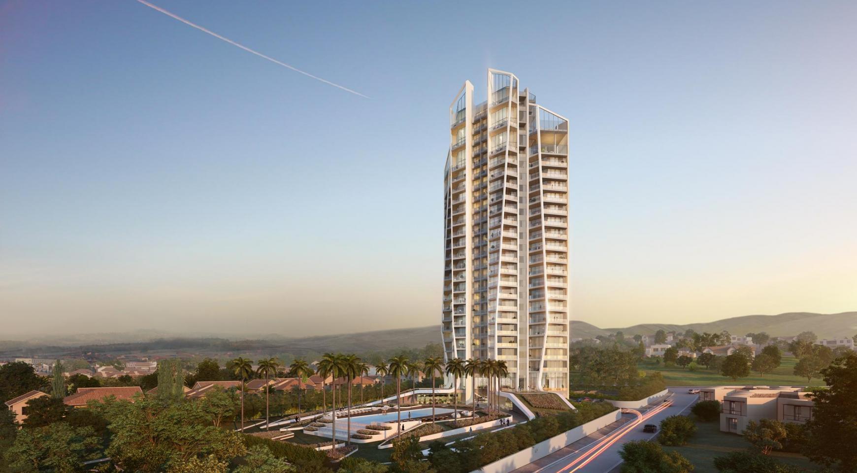 Sky Tower. Современная Просторная Односпальная Квартира 302 возле Моря - 13