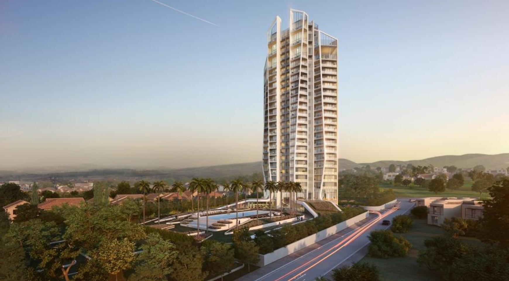 Sky Tower. Современная Просторная Односпальная Квартира 302 возле Моря - 7