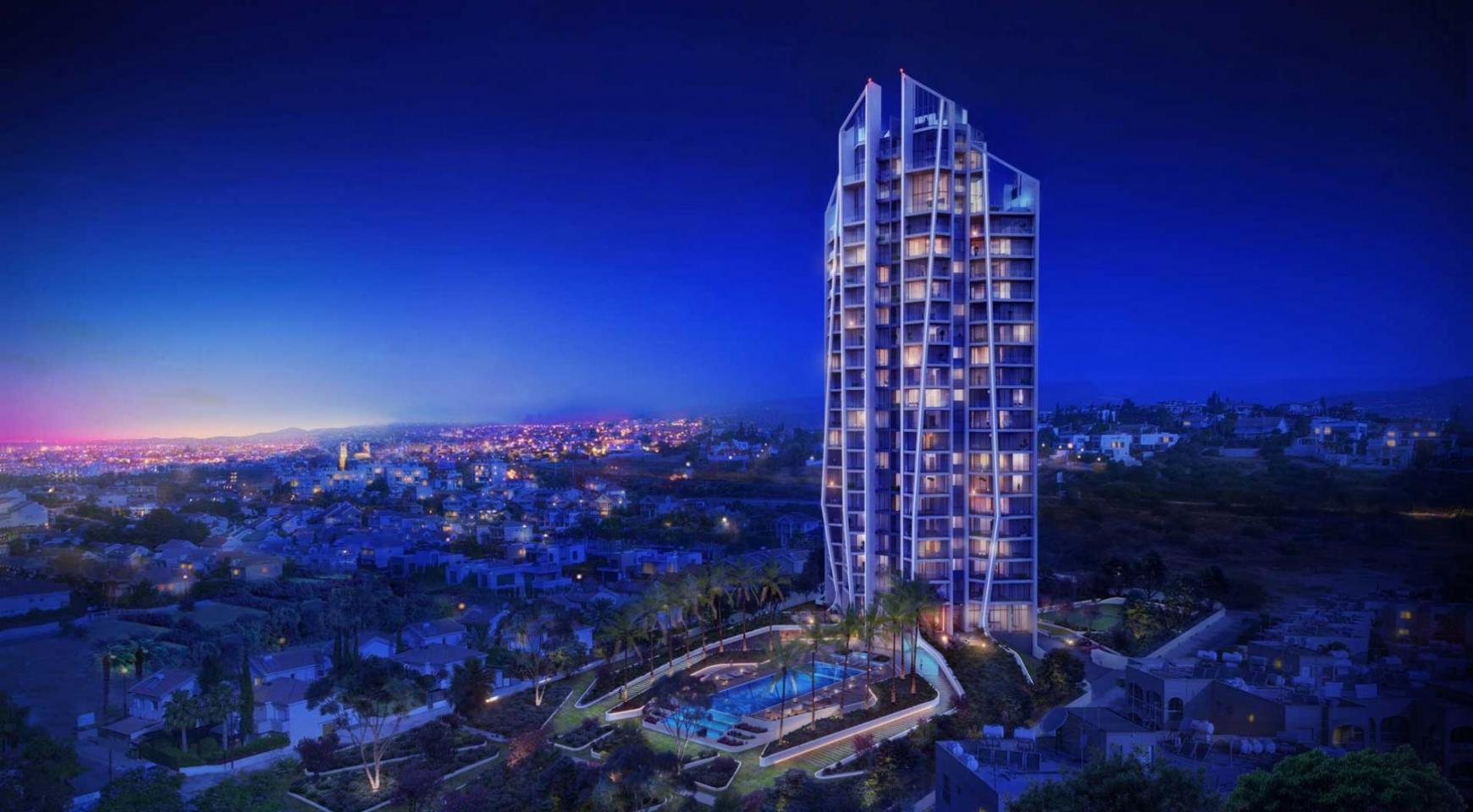 Sky Tower. Современная Просторная Односпальная Квартира 302 возле Моря - 8