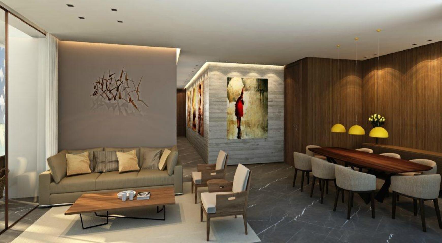 Современный 4-Спальный Пентхаус в Новом Уникальном Проекте у Моря - 14