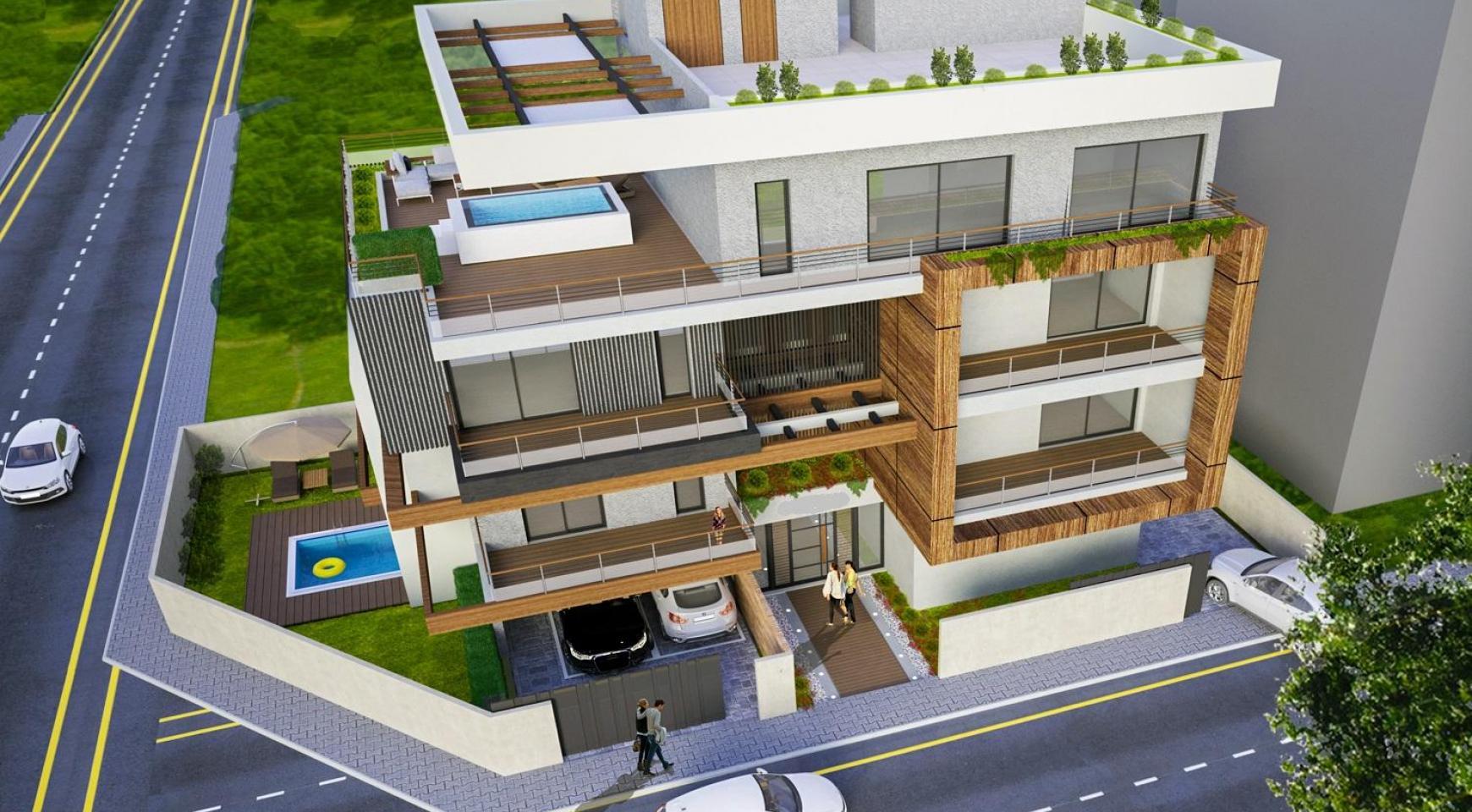 Новая Двухуровневая Квартира с 3 Спальнями в Современном Здании в Районе Columbia - 1