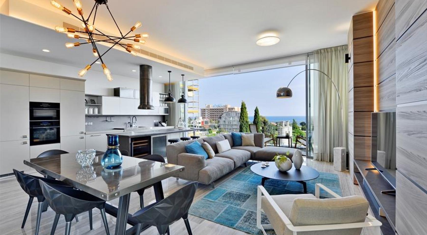 Новая Элитная 2-Спальная Квартира с Видом на Море в Туристической Зоне - 3