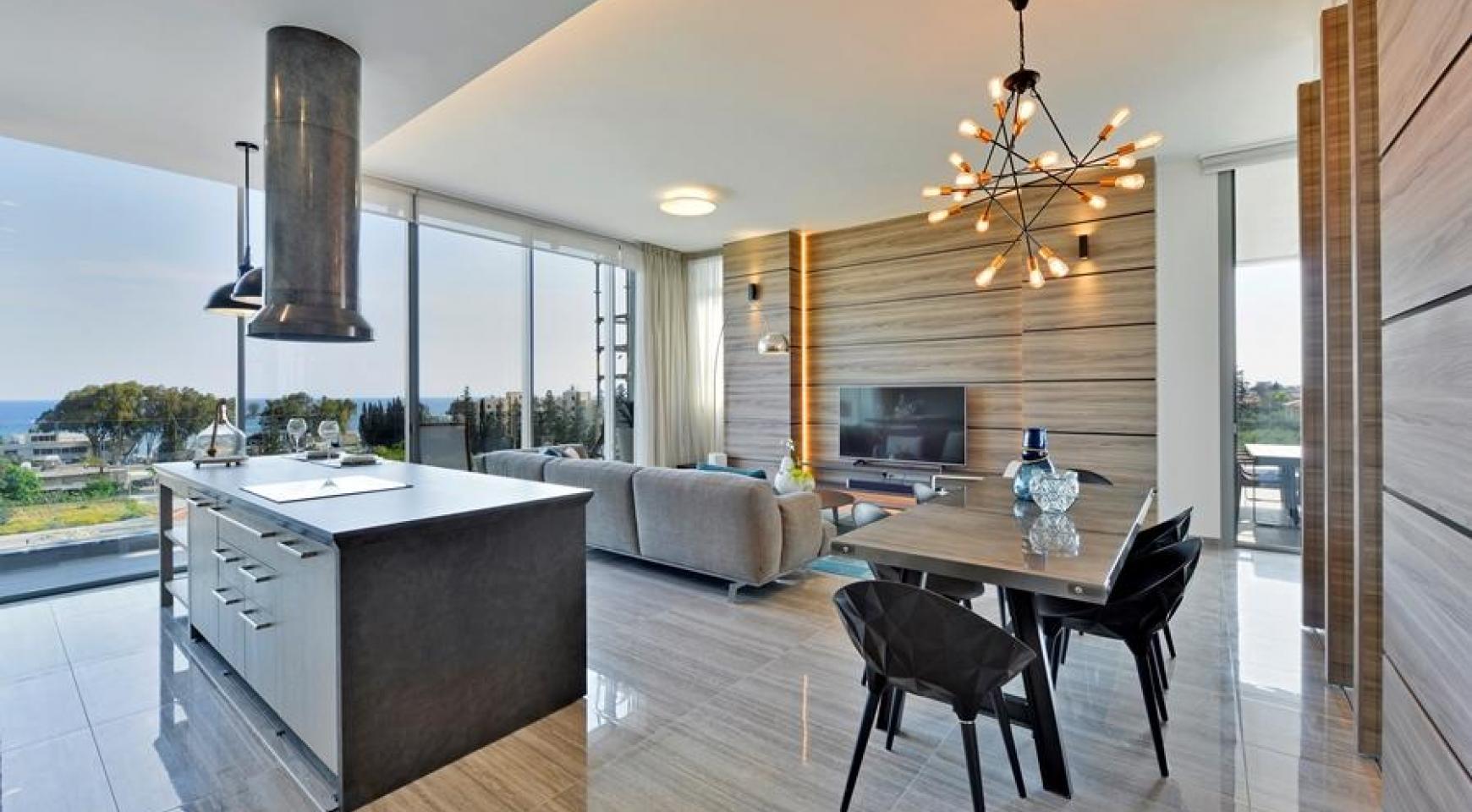 Новая Элитная 2-Спальная Квартира с Видом на Море в Туристической Зоне - 6