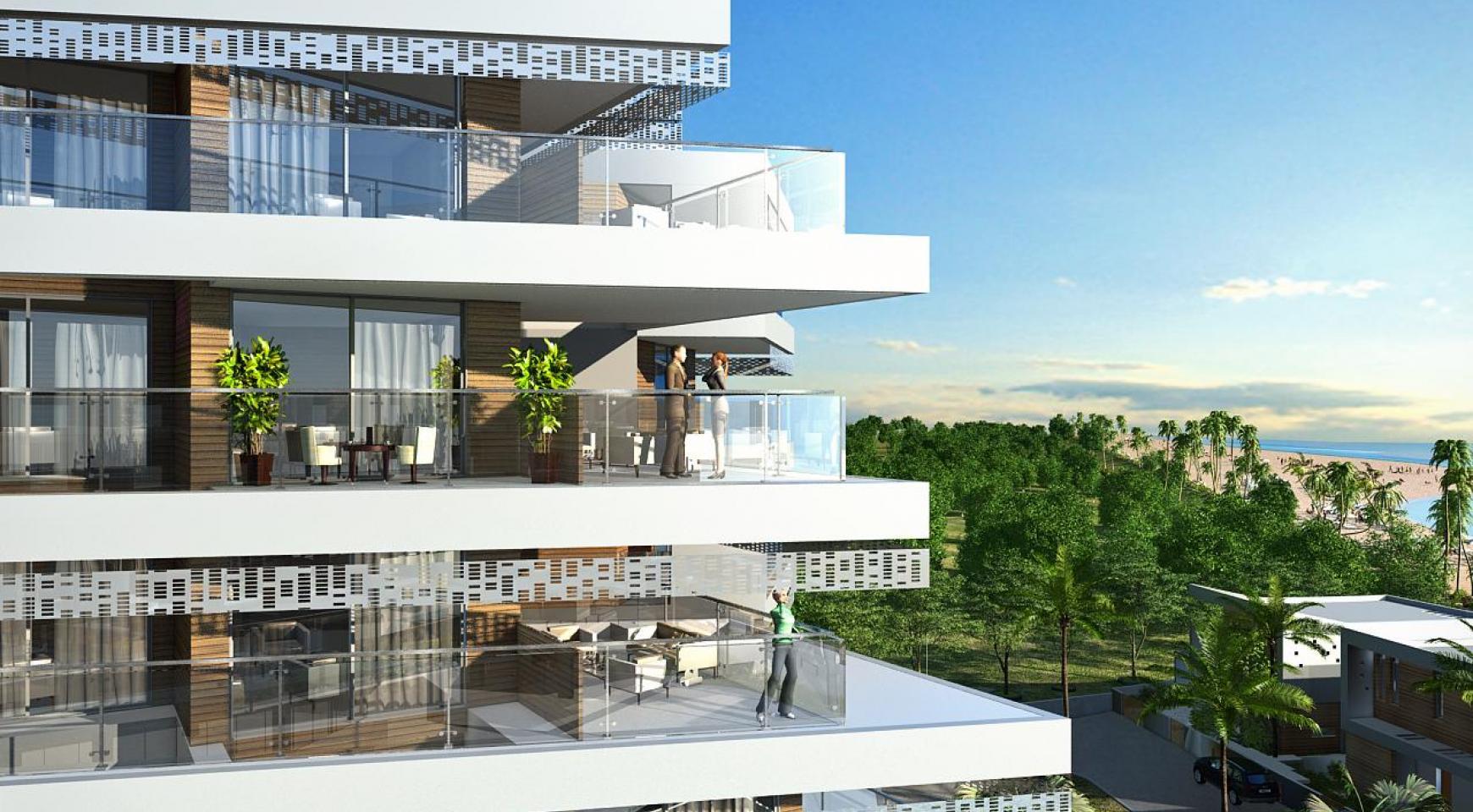 Современная 2-Спальная Квартира в Новом Проекте у Моря - 9