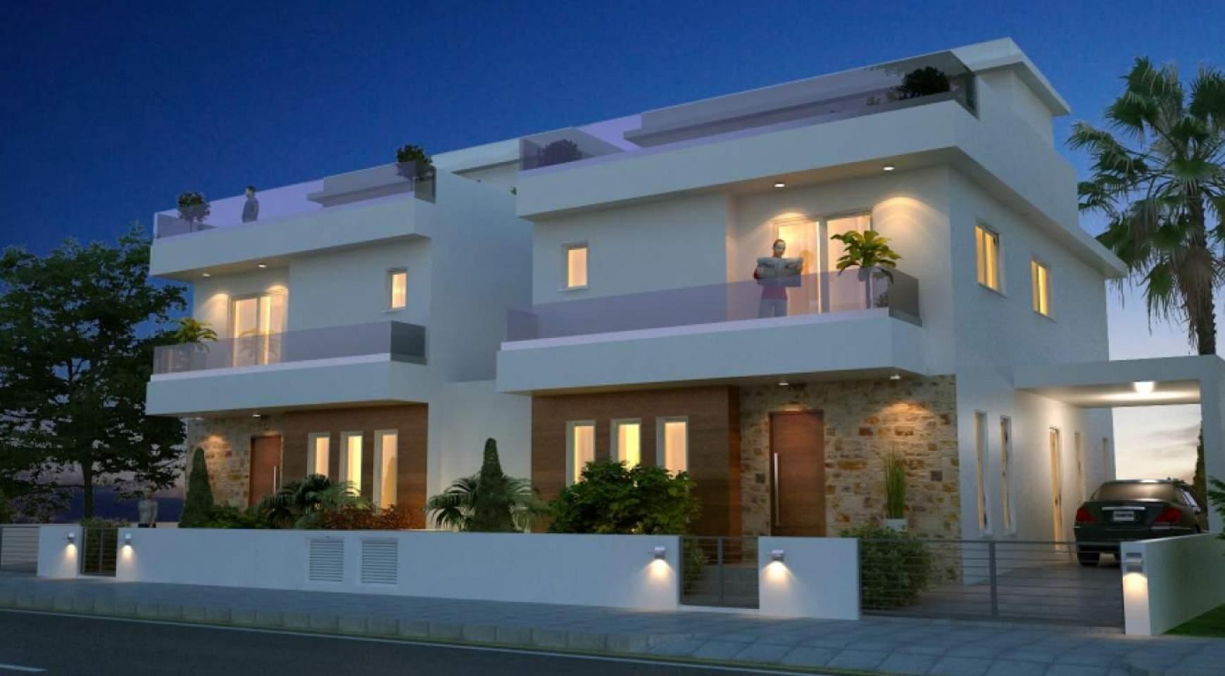 Новый Современный 4-Спальный Дом в Районе Leivadia - 3