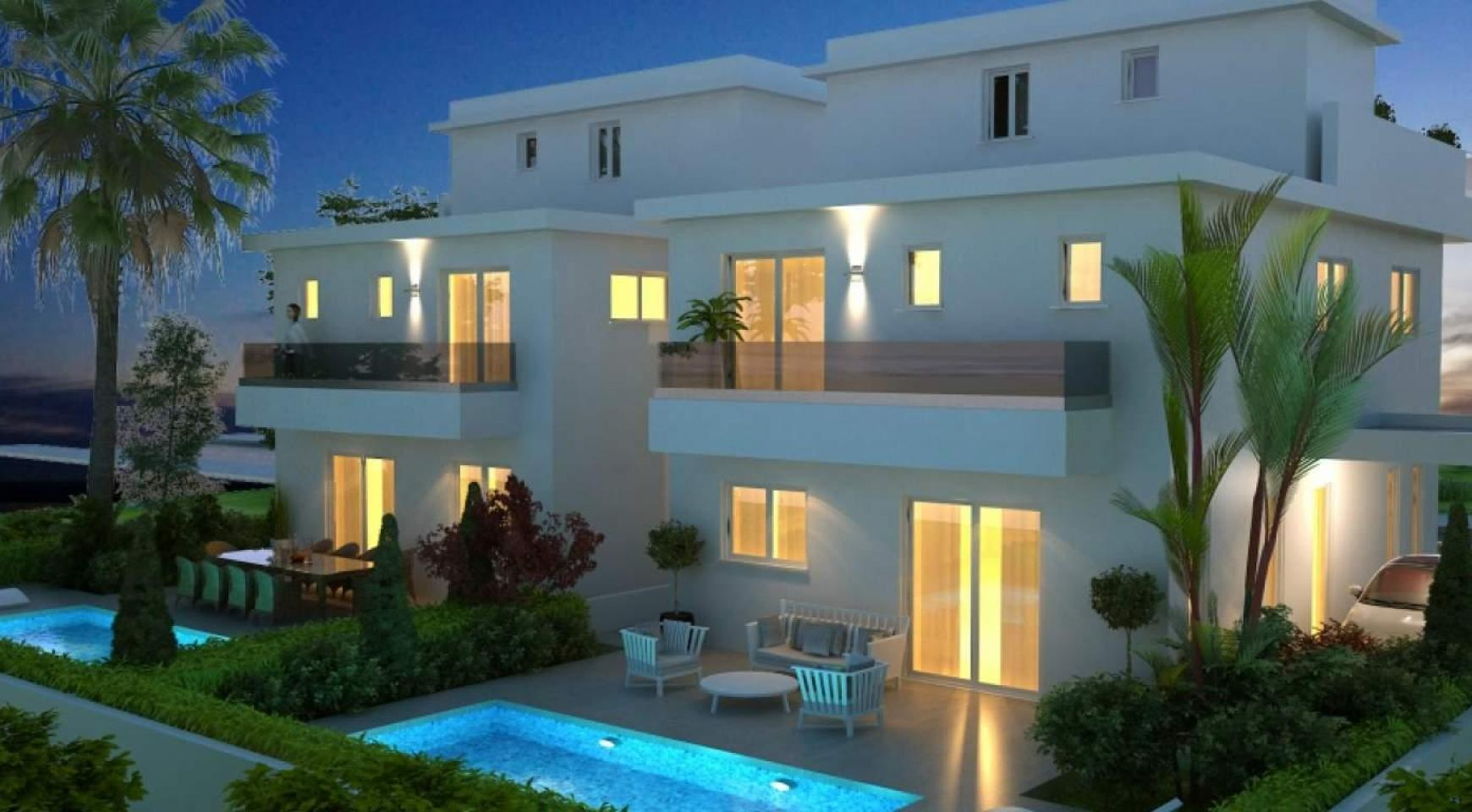 Новый Современный 4-Спальный Дом в Районе Leivadia - 1