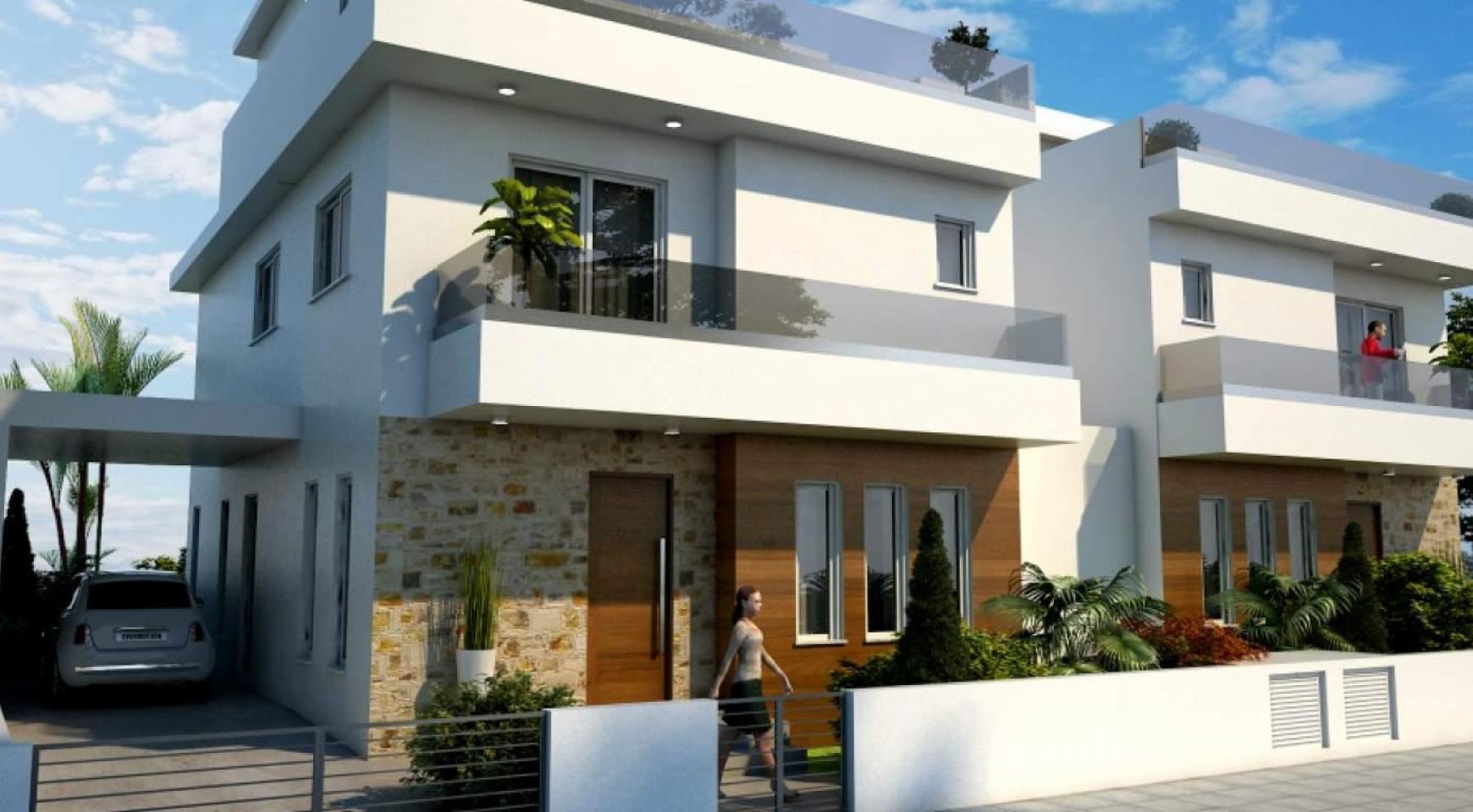 Новый Современный 4-Спальный Дом в Районе Leivadia - 8