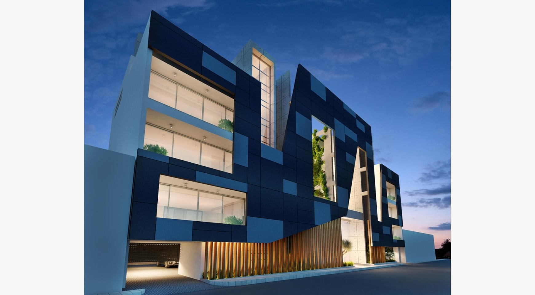 Современное Многоквартирное Здание в Центре Города - 1
