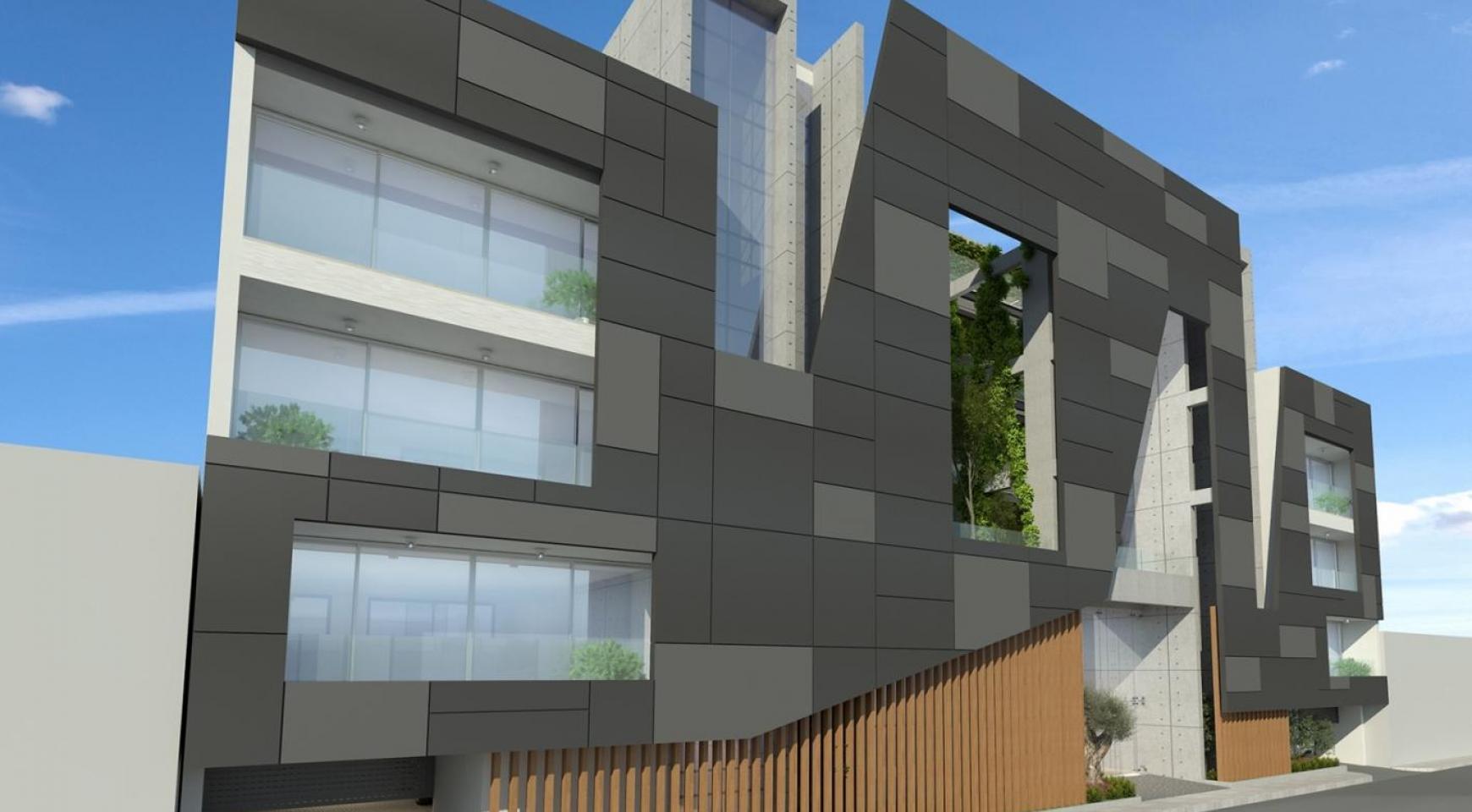 Современное Многоквартирное Здание в Центре Города - 2