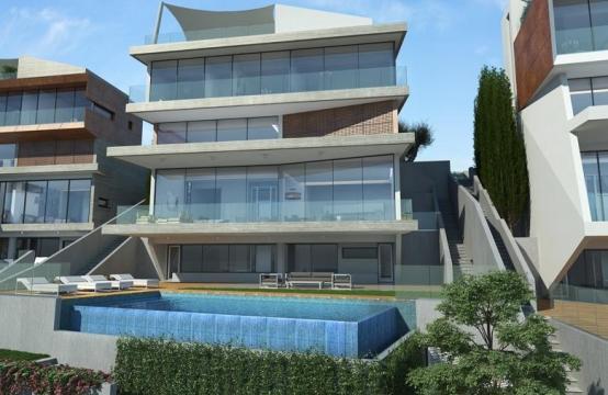 4-Спальная Вилла с Видом на Море в Районе  Agios Tychonas