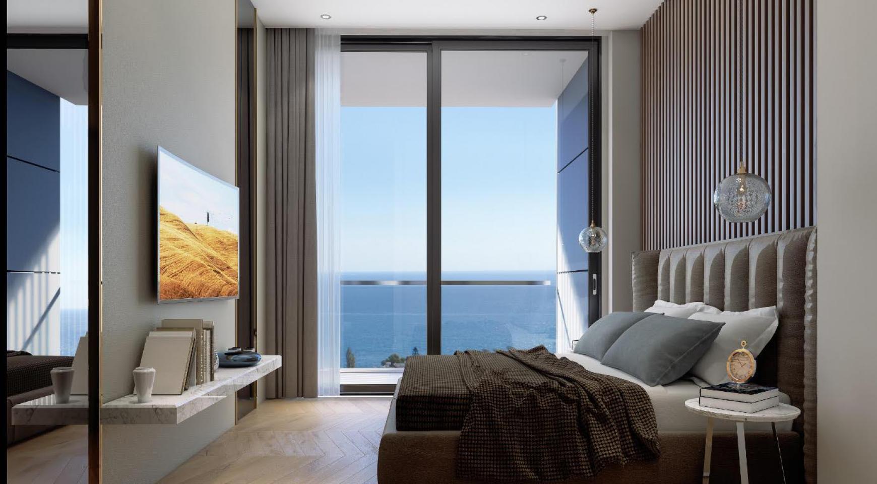 Современная 2-Спальная Квартира с Видом на Море в Элитном Комплексе - 9