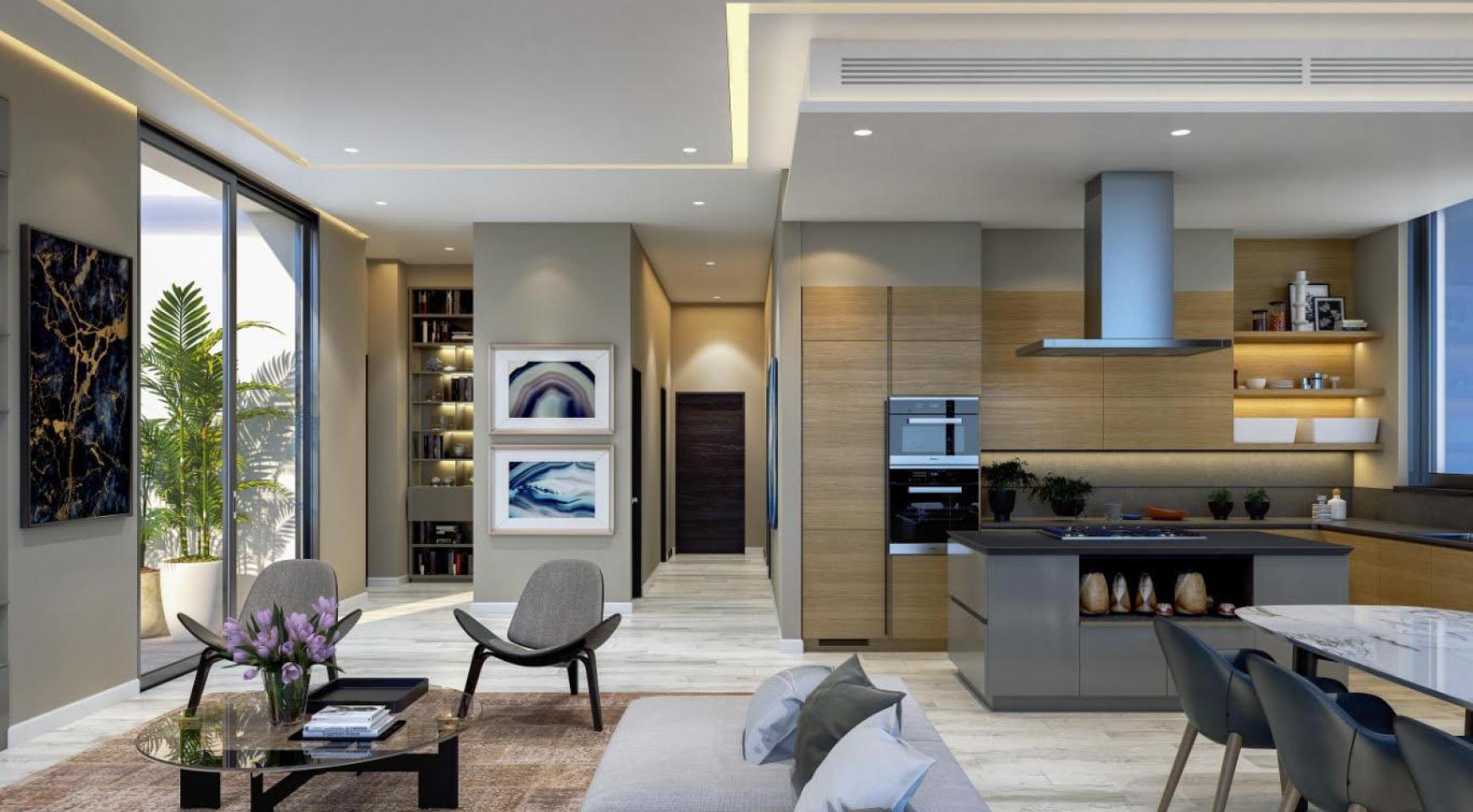Современная 2-Спальная Квартира с Видом на Море в Элитном Комплексе - 8