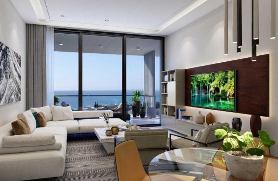 Современная 2-Спальная Квартира с Видом на Море в Элитном Комплексе