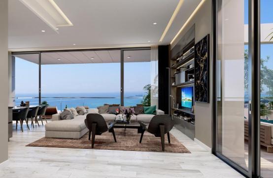 Современная 3-Спасльная Квартира с Видом на Море в Элитном Комплексе