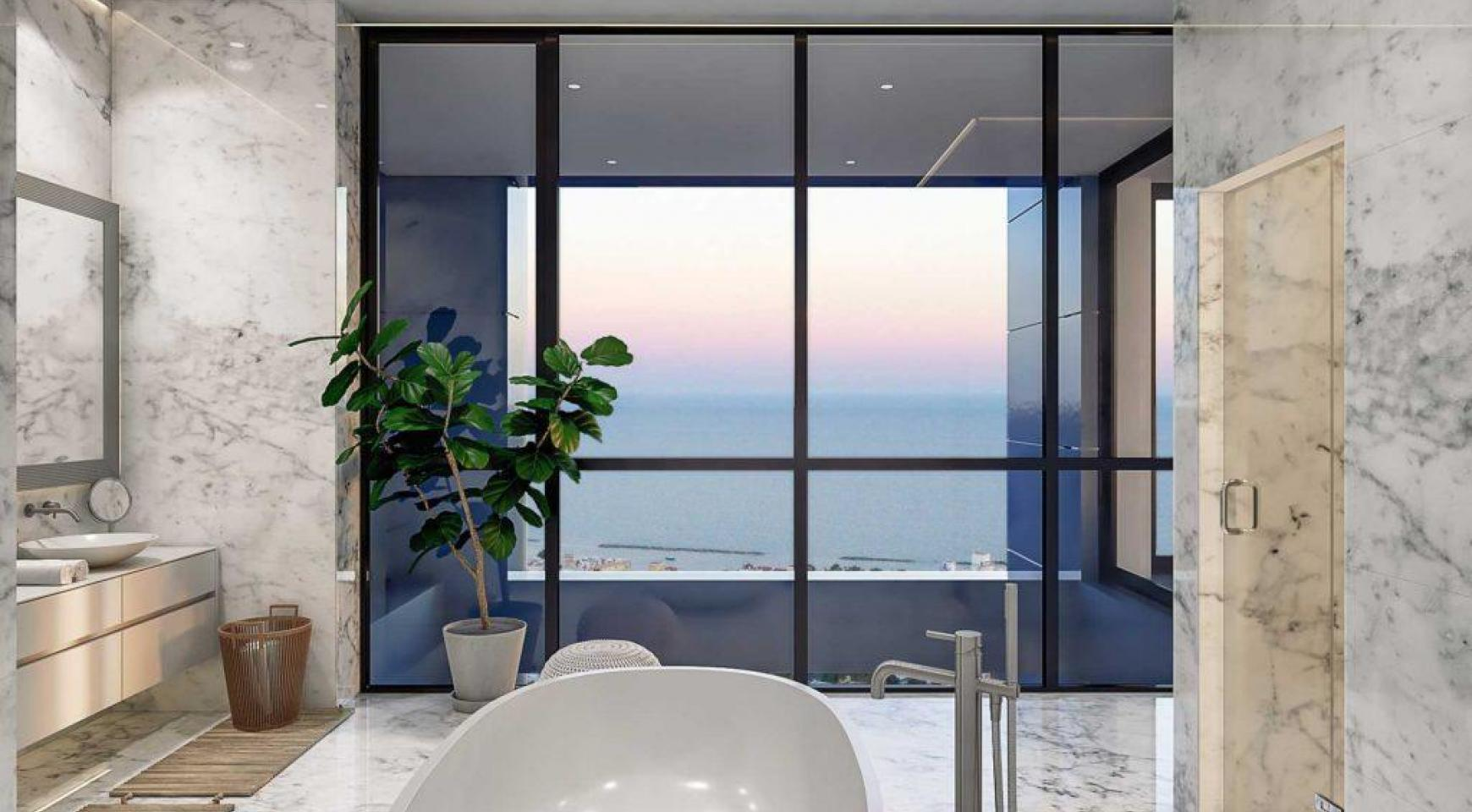 Современная 3-Спасльная Квартира с Видом на Море в Элитном Комплексе - 10