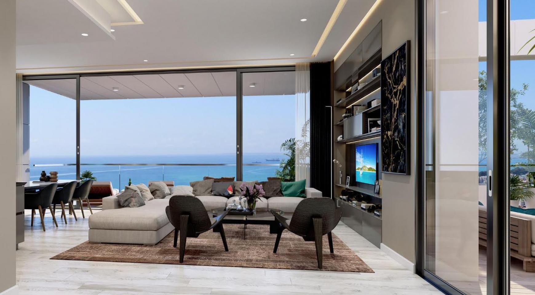 Современная 3-Спасльная Квартира с Видом на Море в Элитном Комплексе - 2