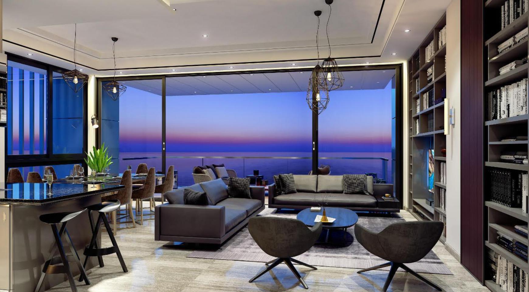 Современная 3-Спасльная Квартира с Видом на Море в Элитном Комплексе - 1
