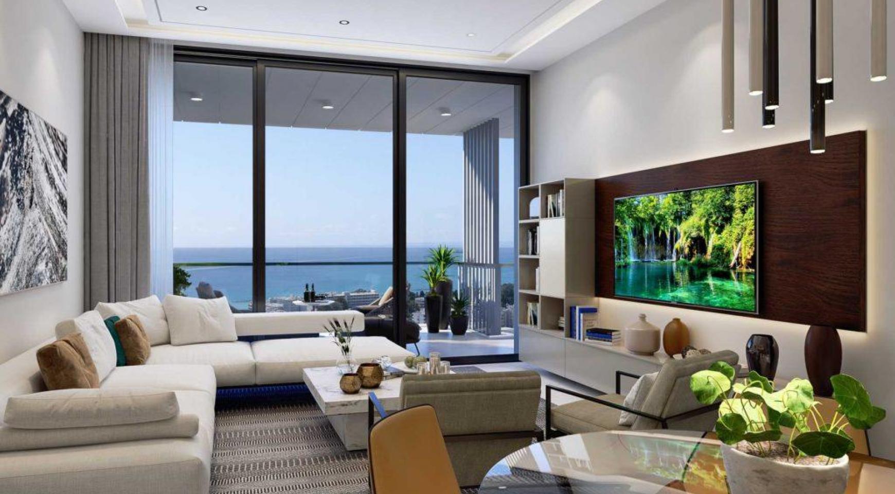 Современная 3-Спасльная Квартира с Видом на Море в Элитном Комплексе - 4