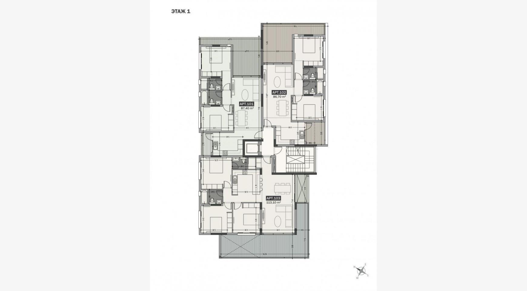Hortensia Residence, Кв. 103. 3-Спальная Квартира в Новом Комплексе возле Моря - 65